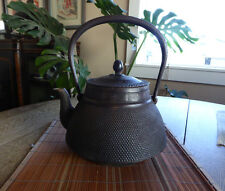 Japanese Cast Iron Tetsubin, Teapot, Kettle, Signed