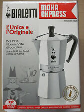 Bialetti Moka Express 06801 Stovetop Espresso Maker Pot Coffee Latte 9 CUP