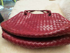 GENUINE.AUTHENTIC.MINT/RED/BOTTEGA VENETA, TOGO BAG/2 BRAIDED STRAPS