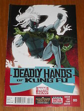 DEADLY HANDS OF KUNG FU #3 MARVEL COMICS NM (9.4)
