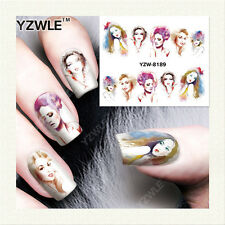 YZW-8189 FULL NAIL ART STICKERS DIY WATER TRANSFER WRAPS MANICURE DECAL WOMENS