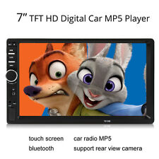 7 Inch Touch LCD 2DIN Car Bluetooth Audio HD Radio In Dash Stereo MP3 MP5 Player