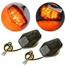 2Pcs Smoke Flush Mount LED Turn Signal Light Blinker  Yamaha Motorcycle Amber