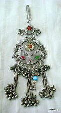 vintage antique tribal old silver necklace pendant belly dance jewellery