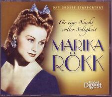 Marika Rökk - Für eine Nacht voller Seligkeit  -  Reader's Digest  3 CD Box OVP