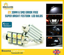 NEW 2x 39mm 6 SMD LED 239 C5W NO ERROR BMW 3 Series E30 E36 E46 E90 E92 Bulbs**