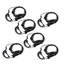6pcs G-Shape Earpiece Headset PTT MIC for Midland Walkie Talkie G5/6/7/8 LXT114