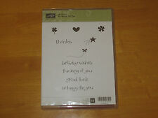 Stampin up So Happy For You clear mount rubber stamp set