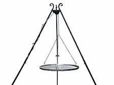 Grill HANDMADE FORGED  Hanging TRIPOD STAND STEEL CHARCOAL BBQ MEAT