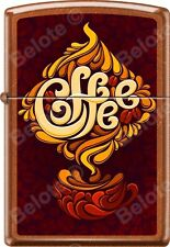 Zippo Coffee Cup Aroma Design Poster Toffee WindProof Lighter NEW