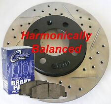 Fits 08-11 Accent Drilled Slotted Rotors Ceramic Pads Harmonically Balanced Frnt