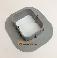 """Chemlink E-Curb 4""""x3"""" Round Curb EPDM Pipe Vent Flashing Roofing HVAC Solar Roof"""