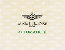 BREITLING AUTOMATIC II ANLEITUNG INSTRUCTIONS AUTOMATIC 2
