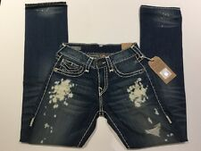TRUE RELIGION RICKY SUPER T MEN JEAN ROUGH WATERS DEDM MNR859NUL1 NWT 36W $369