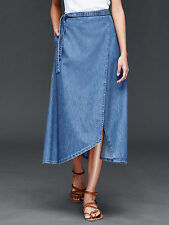 Gap NWT Blue Denim 1969 Wrap Skirt M 8 10 $60