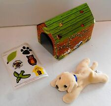 "2001 Kimberly Clark Ltd ~ ANDREX PUPPIES ~ 6"" Puppy with Kennel & Stickers (P2)"