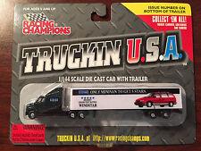 RACING CHAMPIONS 1997 TRUCKIN U.S.A. FORD WINDSTAR 1/144 SCALE SEMI TRUCK NIB