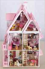 DIY Wooden Dollshouse Miniature Kit w/LED Lights - My Little House
