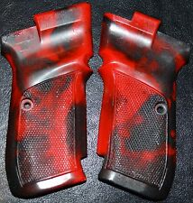 CZ 82 83 pistol grips red and graphite swirl plastic