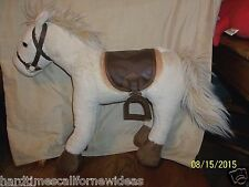 "Pottery Barn kids Horse Plush 16"" Tall 18"" Long"
