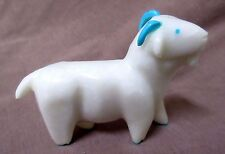 Zuni White Marble Billy Goat fetish by Enrike Leekya C0381