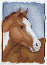 PAINT HORSE PORTRAIT SET OF 2 BATH HAND TOWELS EMBROIDERED BY LAURA
