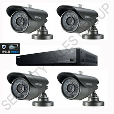 SAMSUNG KIT CCTV 1x 8 Canali DVR 1TB + 4x HIGH RES VANDAL PROOF BULLET TELECAMERE