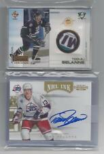 TEEMU SELANNE AUTOGRAPH, PATCH VARIATION, AND ROOKIE CARD LOT NO. 1