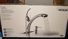 Kohler Forte Single Handle Pull Down Kitchen Faucet Pol. Chrome R-10433