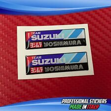 2 Adesivi Resinati Sticker 3D YOSHIMURA 8 X 2 cm SUZUKI TEAM
