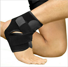 Black Sport Basketball Ankle Foot Elastic Support Wrap Neoprene Professional New