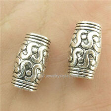 15770*35PCS Antique Silver Vintage 12mm Tube European Beads Charm Alloy