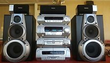 TECHNICS HIFI COMPONENT STEREO SYSTEM/5 DVD/CD/AUX+5 SPEAKERS/5.1/SURROUND SOUND