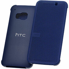 Original HTC Dot View Book Case Etui Tasche Hülle HC M231 Ink Blue Blau f One M9