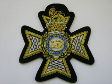 Light Dragoon Guards Wire Embroidered Bullion Blazer Badge