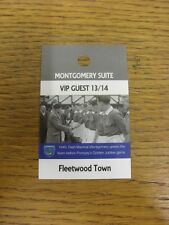 21/09/2013 Ticket: Portsmouth v Fleetwood Town [Montgomery Suite VIP Guest Pass]