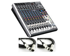 Behringer XENYX X1622USB - 16-Input USB Audio Mixer (2 FREE XLR Cables Included)