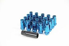 Super GT BLUE Extended Long Steel Wheel Lug Nut M12x1.25 Nissan Subaru Suzuki