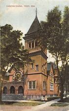 B44/ Perry Iowa Ia Postcard 1909 Christian Church Building