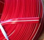 15 m Abdeckprofil Kederschiene Schraubkanal Leistenfüller rot / weiß 12mm