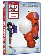 Big Hero 6 Walt Disney UK R2 DVD Brand NEW and Sealed Six Cartoon Movie Don Hall