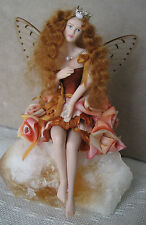 "FAIRY DREAMS by Mary Stockett OOAK - Porcelain fairy figurine- ""Lilly"" handmade"