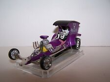 "CUSTOM HO SLOT CAR ""BAD MEDICINE"" DRAGSTER W/A NEW AURORA TYPE 4 GEAR HO CHASSIS"