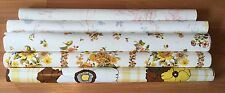 OLD VTG DECORATIVE FLORAL PATTERN VINYL WALL COVERING HANGING PAPER LOT OF 5