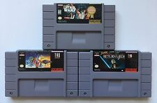 SNES Star Wars Trilogy: Super Star Wars, Empire Strikes Back, Return of the Jedi
