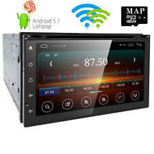 "Sale 7"" Android 5.1 Smart Double 2Din Car Stereo DVD Player GPS WiFi BT 3G Radio"