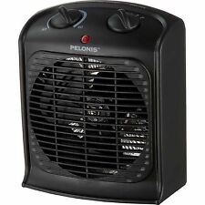 Portable Space Heater Black Energy Efficient Electric Small Fan Office Dorm Heat