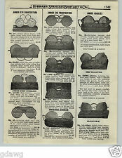 1919 PAPER AD 2 Sided Willson Safety Goggles Zyblex Albex Industrial