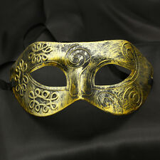 Luxury Burnished Gold Venetian Mardi Gras Masquerade Party Ball Mask Men Jewelry