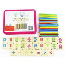 79Pcs Wooden Numbers Mathematics Learning Counting Sticks Child Educational Toy